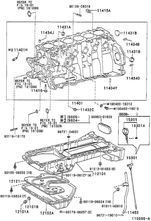 Toyota Supra Nut  Union  Engine  Block  Assembly