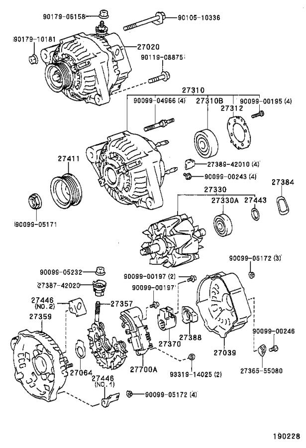 Toyota Corolla Alternator  Remanufactured Alternator