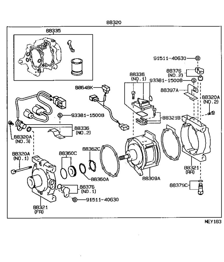 Toyota Tercel Wire  Compressor  Electrical  Conditioning  Air